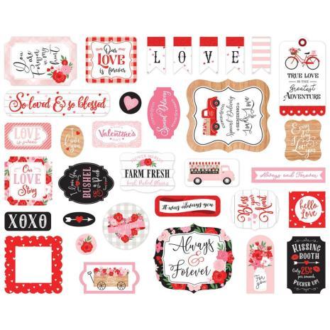 Echo Park Cupid & Co Cardstock Die-Cuts 33/Pkg - Icons