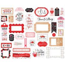 Echo Park Cupid & Co Cardstock Die-Cuts 33/Pkg - Frames & Tags