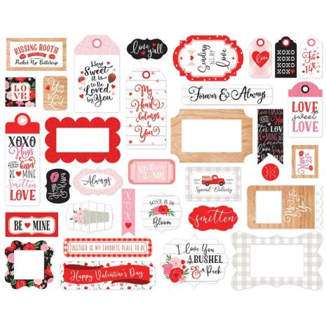 Echo Park Cupid & Co Cardstock Die-Cuts 33/Pkg - Frames & Tags