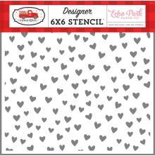 Echo Park Cupid & Co Stencil 6X6 - Love You