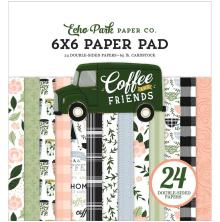 Echo Park Double-Sided Paper Pad 6X6 - Coffee & Friends