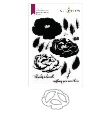 Altenew Clear Stamp And Die Build A flower - Peony