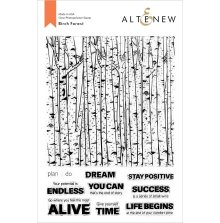 Altenew Clear Stamps 6X8 - Birch Forest