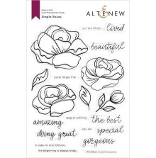 Altenew Clear Stamps 6X8 - Simple Roses
