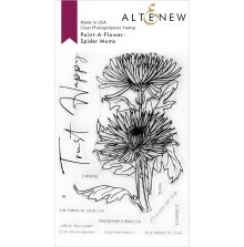 Altenew Paint A Flower - Spider Mums Outline