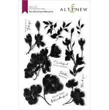 Altenew Clear Stamps 6X8 - Pen Sketched Silhouette