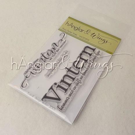hÄnglar & Wings Clear Stamps - Stora Texter Vinter A7