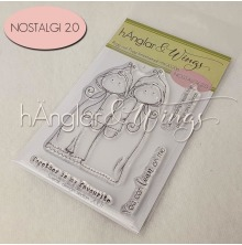 hÄnglar & Wings Clear Stamps - Rygg mot Rygg A7