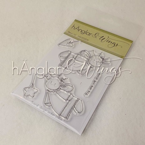 hÄnglar & Wings Clear Stamps - Retro #2 A7