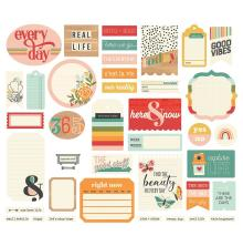Simple Stories Bits & Pieces Die-Cuts 39/Pkg - Hello Today Journal