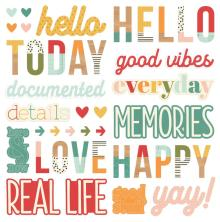 Simple Stories Foam Stickers 43/Pkg - Hello Today