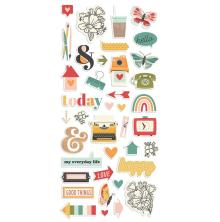 Simple Stories Puffy Stickers - Hello Today
