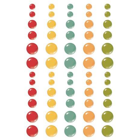Simple Stories Enamel Dots 60/Pkg - Hello Today