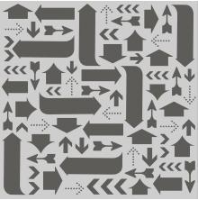 Simple Stories Hello Today Stencil 6X6 - Arrows