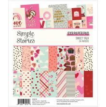 Simple Stories Double-Sided Paper Pad 6X8 - Sweet Talk