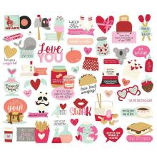 Simple Stories Bits & Pieces Die-Cuts 45/Pkg - Sweet Talk Icons