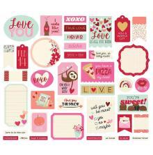 Simple Stories Bits & Pieces Die-Cuts 39/Pkg - Sweet Talk Journal