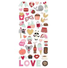 Simple Stories Puffy Stickers - Sweet Talk
