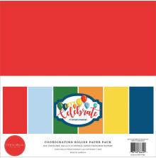 Carta Bella Solid Cardstock 12X12 6/Pkg - Lets Celebrate