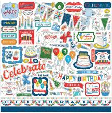 Carta Bella Lets Celebrate Cardstock Stickers - Elements