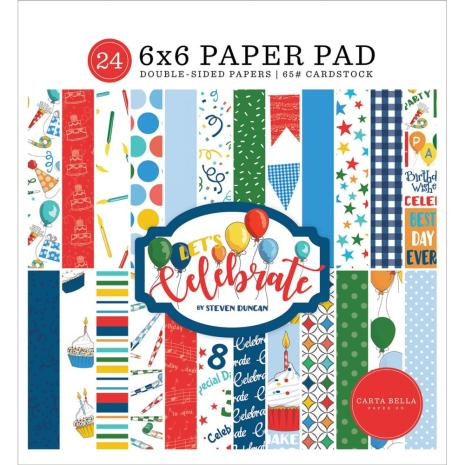 Carta Bella Double-Sided Paper Pad 6X6 - Lets Celebrate