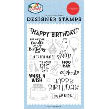 Carta Bella Stamps Lets Celebrate 4X6 - Birthday Surprise