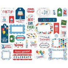 Carta Bella Lets Celebrate Cardstock Die-Cuts 33/Pkg - Frames & Tags