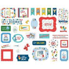 Carta Bella Lets Celebrate Cardstock Die-Cuts 33/Pkg - Ephemera