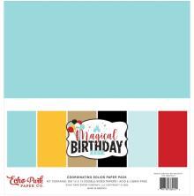 Echo Park Solid Cardstock 12X12 6/Pkg - Magical Birthday Boy