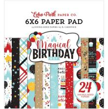 Echo Park Double-Sided Paper Pad 6X6 - Magical Birthday Boy