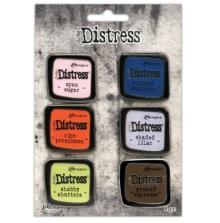 Tim Holtz Distress Enamel Collector Pin Set 6/Pkg - Set 6
