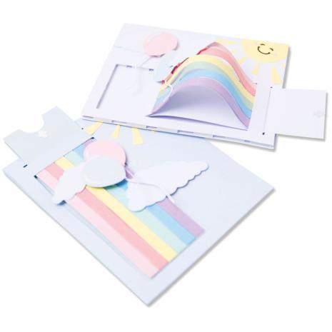 Sizzix Thinlits Dies - Rainbow Slider Card