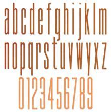 Tim Holtz Sizzix Thinlits Dies - Alphanumeric Stretch Lower & Numbers