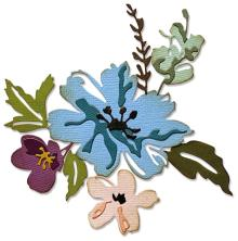 Tim Holtz Sizzix Thinlits Dies - Brushstroke Flowers #2