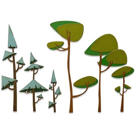 Tim Holtz Sizzix Thinlits Dies - Funky Trees