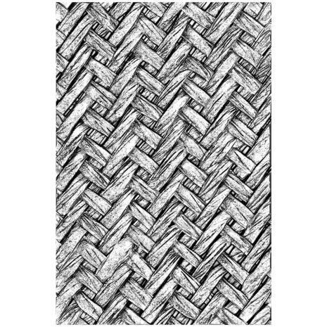 Tim Holtz Sizzix 3-D Texture Fades Embossing Folder - Intertwined