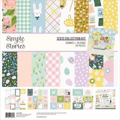 Simple Stories Collection Kit 12X12 - Bunnies + Blooms