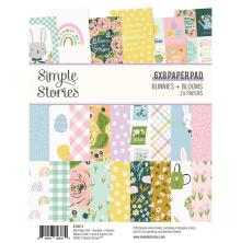 Simple Stories Double-Sided Paper Pad 6X8 - Bunnies + Blooms