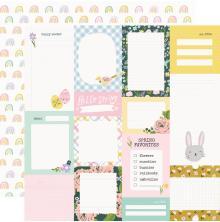 Simple Stories Bunnies + Blooms Cardstock 12X12 - Journal Elements