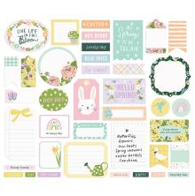 Simple Stories Bits & Pieces Die-Cuts 39/Pkg - Bunnies + Blooms Journal