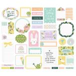 Simple Stories Bits & Pieces Die-Cuts 39/Pkg - Bunnies + Blooms Journal
