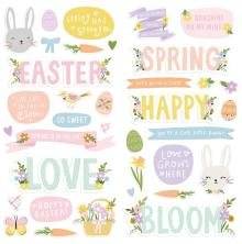 Simple Stories Foam Stickers 36/Pkg - Bunnies + Blooms