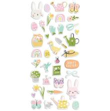 Simple Stories Puffy Stickers - Bunnies + Blooms