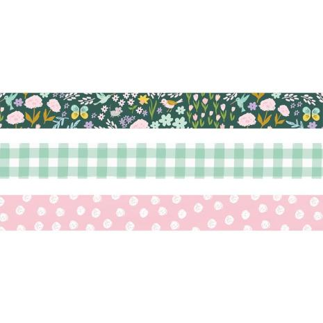 Simple Stories Washi Tape 3/Pkg - Bunnies + Blooms
