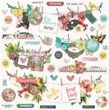Simple Stories Sticker Sheet 12X12 - Simple Vintage Cottage Fields Banners