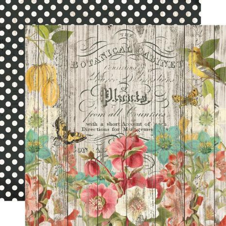 Simple Stories Simple Vintage Cottage Fields Cardstock 12X12 - Natural Beauty