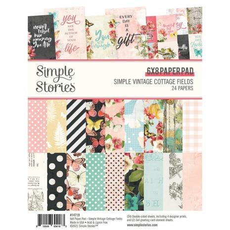 Simple Stories Double-Sided Paper Pad 6X8 - Simple Vintage Cottage Fields