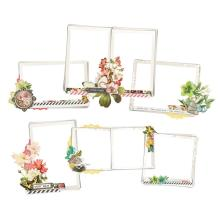 Simple Stories Layered Frames 6/Pkg - Simple Vintage Cottage Fields