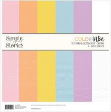 Simple Stories Color Vibe Cardstock Kit 12X12 - Spring