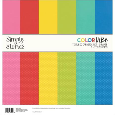 Simple Stories Color Vibe Cardstock Kit 12X12 - Summer